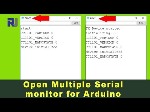 How to open multiple Serial Monitor for Arduino