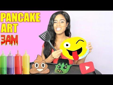 DO NOT MAKE PANCAKE ART CHALLENGE AT 3AM!