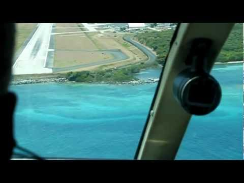 Cape Air landing in Tortola, BVI