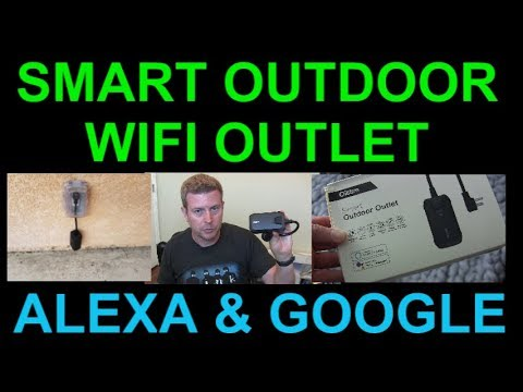 Smart Outdoor Wifi Plug Outlet for Alexa Google Home by Oittm Review
