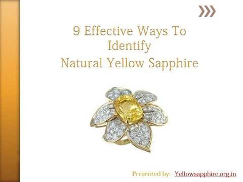 Effective Ways to Identify Natural Yellow Sapphire
