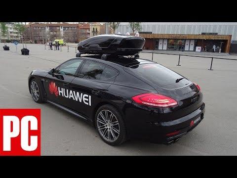 Watch a Huawei Mate 10 Pro Drive a Porsche Panamera