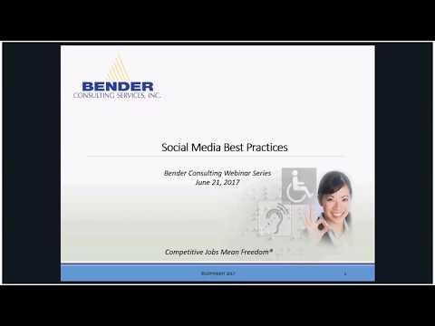 Bender Summer Webinar Series: Social Media Best Practices