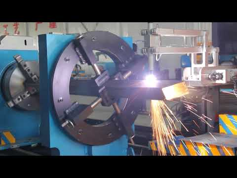 CNC Plasma Cutting Machine | Pipe and Profile Cutting,Beam Coping, Square Profiling Plasma Cutter