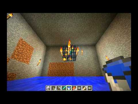 Minecraft easy mob spawner grinder tutorial - 100% tested on Xbox and PC