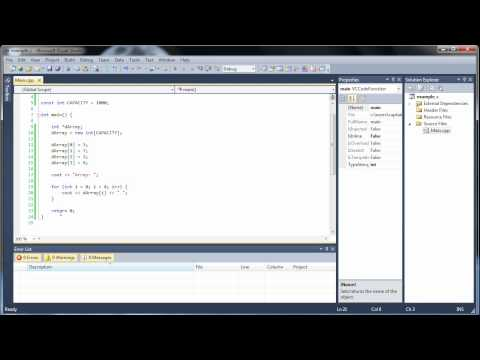 C++ Tutorial 27 - Dynamic Arrays