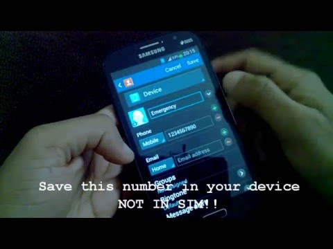 How To Add An Emergency Contact Number In  An Android Device