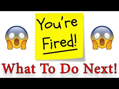 What To Do After You Get Fired! Next Steps...