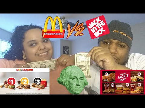 McDonald's $1 $2 $3 Dollar Menu Vs Jack In The Box Value Jack's Way