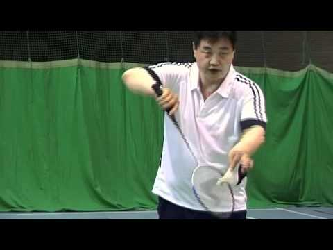 Badminton-Backhand Low Service