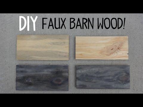 DIY Faux Barn Wood Paint Trick!