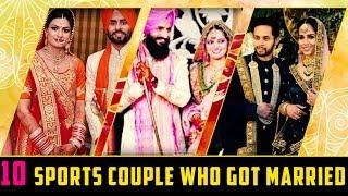 10 Sports Couple who got married | Simbly Chumma
