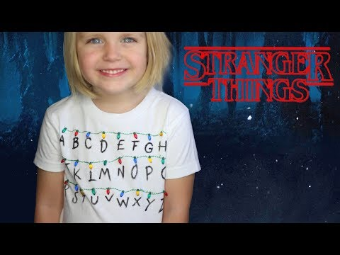 How To Make A Stranger Things ABC Christmas Lights Shirt!
