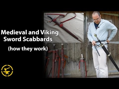 Medieval and Viking sword scabbards