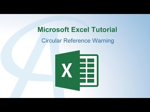 Circular Reference Warning In Excel
