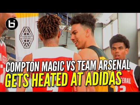 Gets HEATED At ADIDAS! Compton Magic vs Team Arsenal