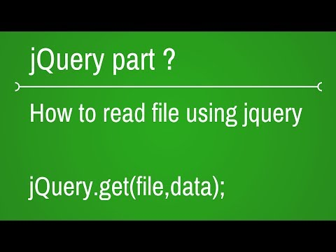How to read file using jQuery