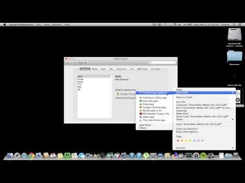 Mac OS X: Set / Change Default Application for Specific File Type