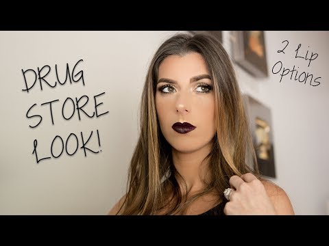 Fall Drugstore Makeup Look | Vampy Lip
