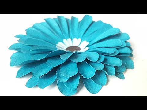 DIY paper flower for wall backdrop diy making tutorial. Paper flowers decorations easy for kids