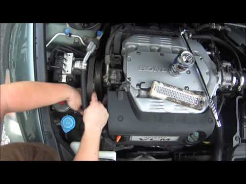 2008 (8th gen) Honda Accord:  DIY how to replace your serpentine belt.