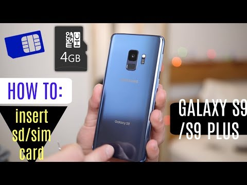 How to Insert SIM / SD Card Samsung Galaxy S9 / S9 Plus