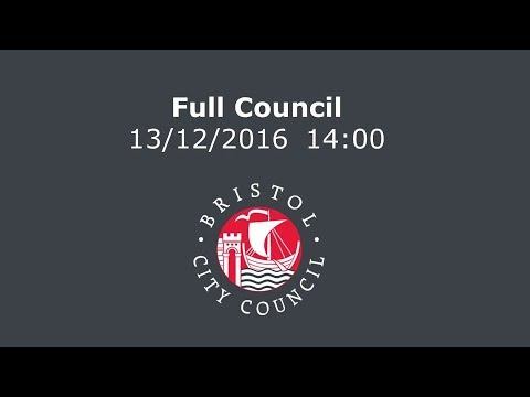 Full Council Tuesday, 13th December, 2016 2.00 pm