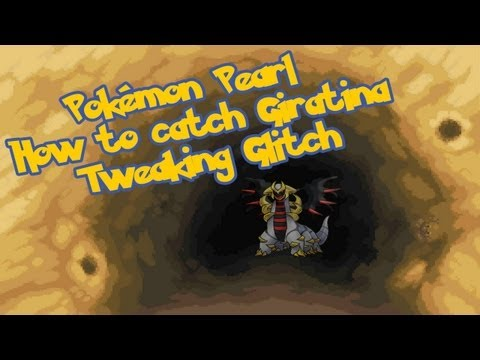 Pokemon Diamond/Pearl (TAS) Catch Giratina with 2. Badges [Tweaking Glitch]