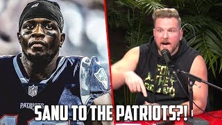 Pat McAfee Reacts To Patriots Getting Mohamed Sanu