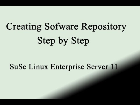 Creating local software repository in suse linux