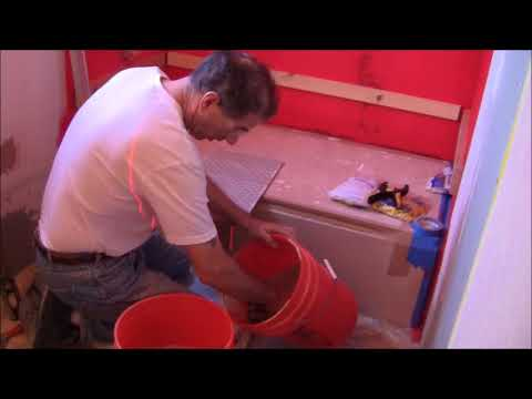 DIY Bathroom Remodel 2018 Part 6 Bathtub Surround Tile Installation and Grout