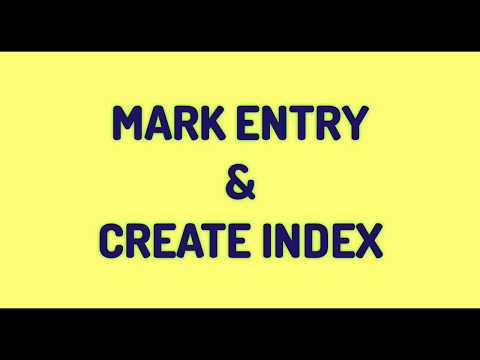 How To Use Mark Entry In Ms Word || Create Index Entry