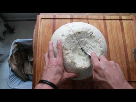 How I clean giant puffballs