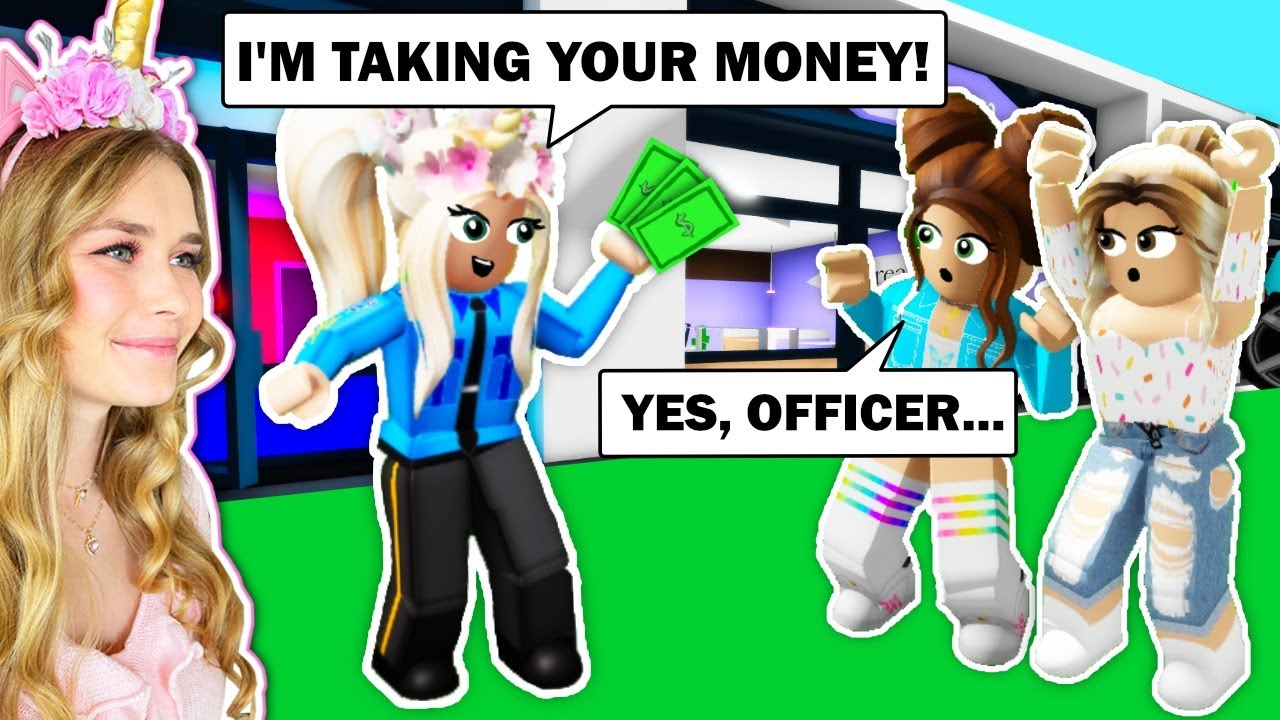 ROBBING People As POLICE OFFICERS In Brookhaven! (Roblox)