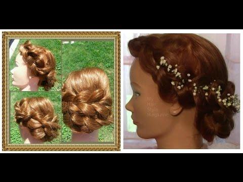 Hair Tutorial: Big Dutch Braid Hairstyle with Flowers for Wedding or Prom