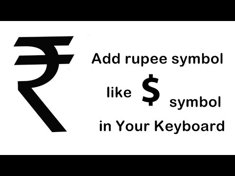 How to add/type rupee symbol in keyboard(shortcut key)