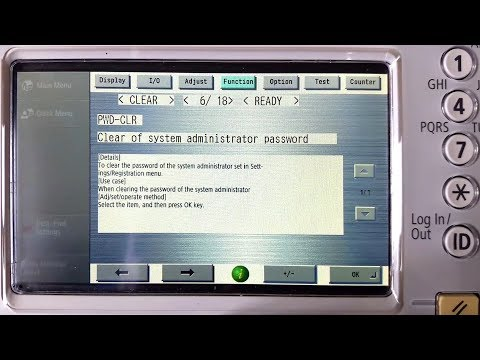 How to reset on Canon imageRUNNER System Manager ID, Password, Counters, Errors. Service Mode