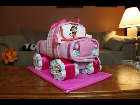Diaper Cake 4x4 Truck (How To Make)