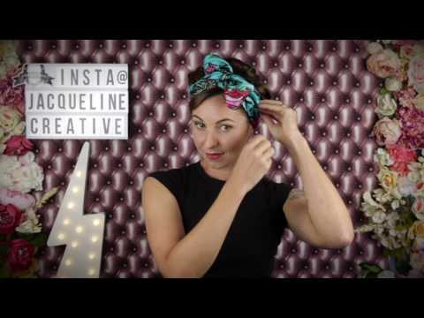 🎀How to tie a silk scarf and wear as a bow headband🎀