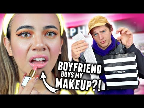 BOYFRIEND BUYS MAKEUP FOR GIRLFRIEND! ($600 at Sephora Shopping Challenge 2017)