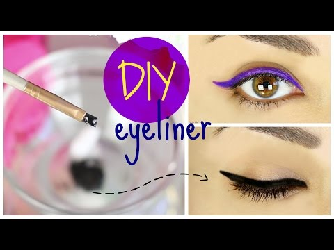 DIY Eyeliner with Eyeshadow - 4 Easy Ways DIY Eyeliner!