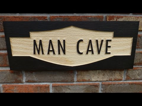 Making a Man Cave sign with Texture