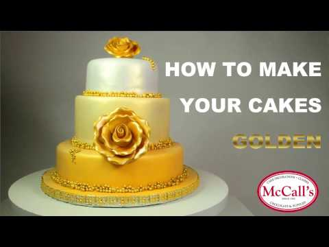 How to make your cakes golden