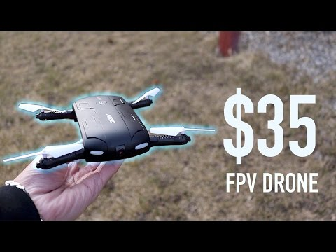 $35 Portable foldable drone with camera 2018 Review - 4K