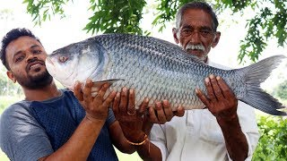 10 kg Big Fish Recipe Cooking By Our Grandpa   Big Fish Curry Donating to Orphans