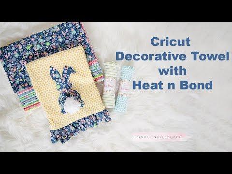 Decorative Ruffle Towel with Cricut & Heat n Bond