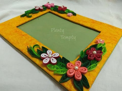 Handmade photo frame|Quilling art||Quilling photo frame|Paper quilling