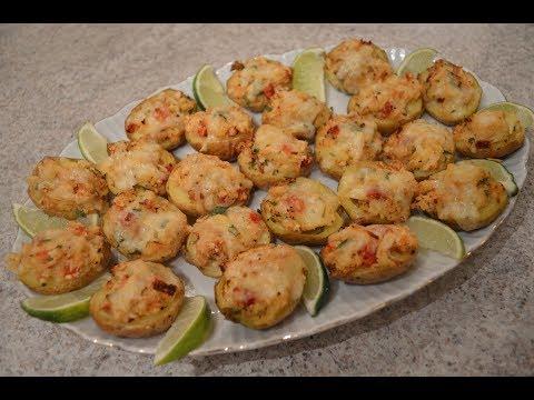 Baked Crab & Smoked Havarti Stuffed New Potato Skins: Cooking with Kimberly