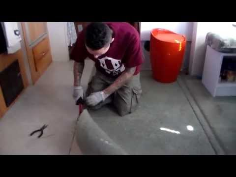 removing the carpet in our rv, full time rving