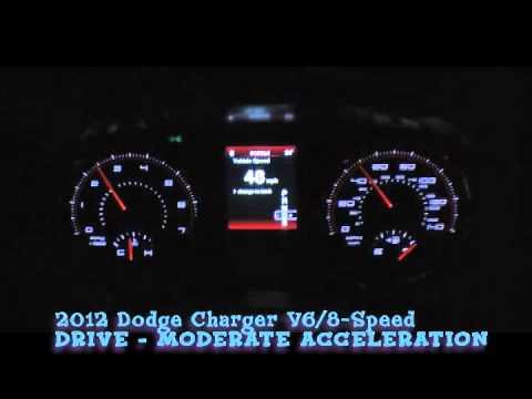 2012 Dodge Charger V6 8-Speed - Shift Points